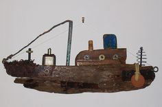 ...driftwood ship ~ a few simple changes and have a submarine in memory of my brother, Tom.....vwr