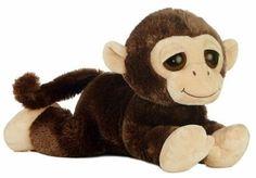 "14.5"" Aurora Plush Monkey ""Mayhem"" Brown Jungle Safari Stuffed Animal Toy NEW #DreamyEyesFlopsie"