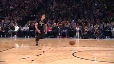 The vertically gifted Zach LaVine taking flight at the 2015 NBA Slam Dunk Contest. Badass.