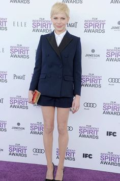 Women in Suits - Female Celebrities in Pant Suits and Tuxedos #womenpantssuits