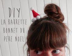 Caro Dels - Blog DIY et loisirs créatifs: DIY :La barrette bonnet du Père Noël