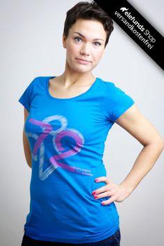 #Recolution - #100% - Frauen T-Shirt - blau - 29,90€ - 100% organic cotton and fairtrade - Versand kostenlos