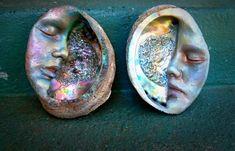 Witch Wand, Driftwood Sculpture, Driftwood Art, We Will Rock You, Sea Witch, Moon Art, 3 Moon, Seashell Crafts, Beach Crafts