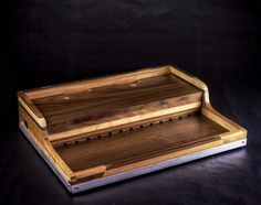 Fulcrum Tiered Power Pedalboard reclaimed by FulcrumWoodwork