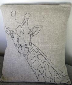 Giraffe pillow by Gina Dambra