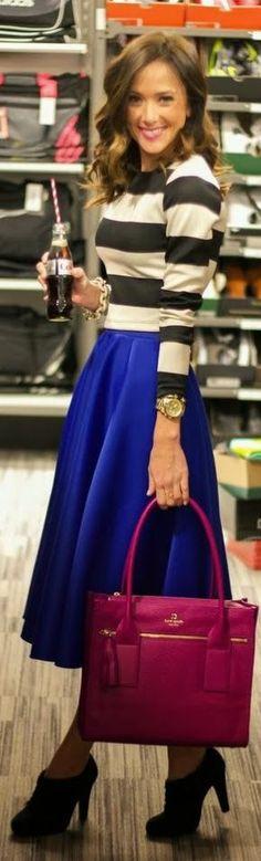Such a cute shirt & skirt