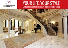 Your life..Your Style Let RadhaRani #Marbles inspire the look of your house