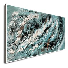 Amazon.com: Large Modern Paintings Handmade Painting Extra Large Painting Rainbow Art Wall Decor Exta Large Canvas Oil Painting Beige And Black Painting Modern Abstract Painting: Handmade