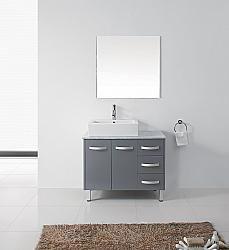 """39"""" Virtu Tilda UM-3069-GR bathroom vanity #BathroomRemodel #BlondyBathHome #BathroomVanity  #ModernVanity"""