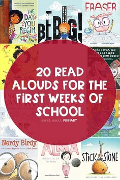 Need some new read aloud books for the first week of school? Here's 20 of my favorite back to school titles. Build community, set expectations, and get the new school year off on the right foot. #backtoschool #books #booksforkids