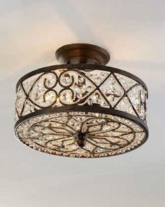 tired of the boring ceiling fan light kits? buy a sparkly flush
