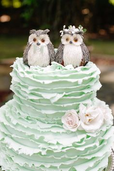 Two little birds owl wedding cake toppers Cheap Wedding Cakes, Creative Wedding Cakes, Beautiful Wedding Cakes, Wedding Cake Designs, Beautiful Cakes, Amazing Cakes, Cake Wedding, Perfect Wedding, Wedding Ceremony