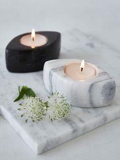 Beautiful marble tealight holders