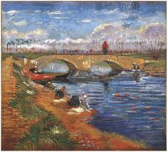 Vincent Van Gogh (1853-1890). The Gleize Bridge over the Vigueirat Canal. Arles, France 1888. Private Collection.