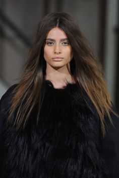 Very Long Brown Hairstyle - Homecoming Hairstyles 2014