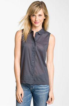 e00633410a662d Frenchi® Scallop Hem Sleeveless Shirt (Juniors)