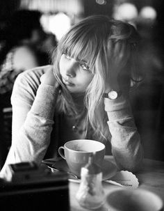 At a coffee shop, thinking! That's where you'll find me! :-)