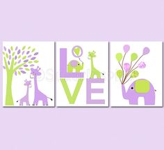 Lavender & lime (room colors for a girl)