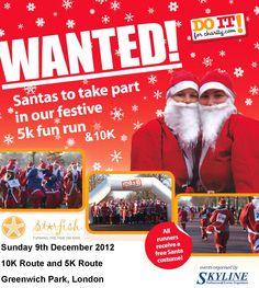 Run the fun Santa run this Christmas! Email run@starfishcharity.org