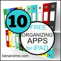 10 free organizing apps for ipad (plus 100+ more for other areas of your school/homeschool) #edapps #homeschool