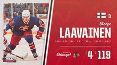 Blackhawks with their 2nd Finnish defenseman of this #NHLDraft at no. 119.