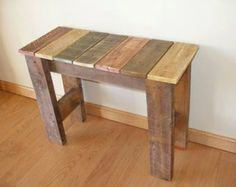 Items similar to Reclaimed Pallet Wood Bench.Green Gift Idea on Etsy Reclaimed Wood Projects, Wooden Projects, Woodworking Projects Diy, Pallet Projects, Pallet Furniture, Furniture Projects, Rustic Furniture, Furniture Design, Wood Pallets