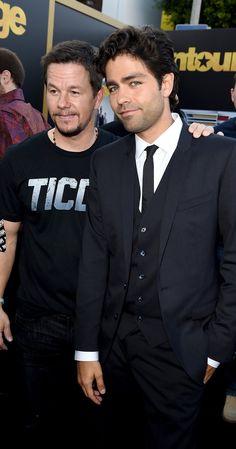 Mark Wahlberg and Adrian Grenier 2015 -- Entourage
