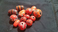 Orange Decorative Assorted Beads by TheChristianBoutique on Etsy