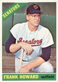 baseball cards     frank howard | ... set name 1966 topps card size 2 1 2 x 3 1 2 number of cards in set 609