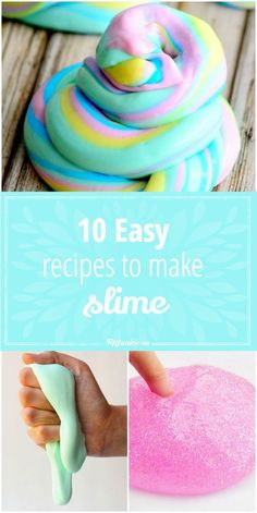 10 Easy Recipes to Make Slime! Super fun for kids!