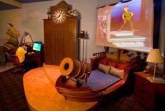 My kids will have this room! Diz Style - Style the Disney fan way: Disney Inspired Decorating ~ Children's Peter Pan Bedrooms Disneyland Innoventions Dream Home Pirate room Disney Themed Bedrooms, Bedroom Themes, Themed Rooms, Bedroom Designs, Awesome Bedrooms, Cool Rooms, Dream Bedroom, Kids Bedroom, Pirate Bedroom