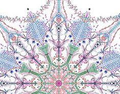 """Check out new work on my @Behance portfolio: """"All that winter - Snowflake Mandala"""" http://be.net/gallery/59925991/All-that-winter-Snowflake-Mandala"""