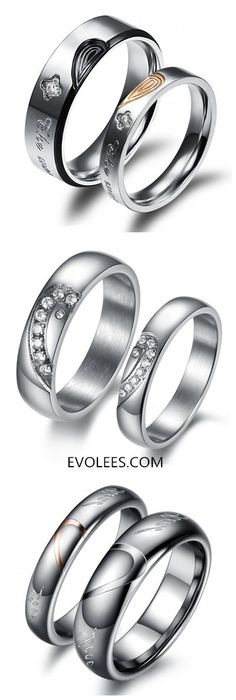 PROMISE RINGS FOR COUPLE Shop-> http://www.evolees.com/rings/rings-for-couples.html