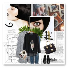 """""""Shein Contest"""" by merylicious91 ❤ liked on Polyvore featuring Zara, Topshop, MCM, Bobbi Brown Cosmetics, Casetify and Sheinside"""
