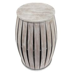 Teton Home Round Distressed End Table - AF-019