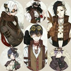 10 Best Steampunk Animeart Images Drawings Illustrations Anime Guys