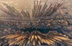 Dubai's Marina District from the sky.  ▪☆▪