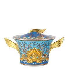 Red Soup Tureen | Versace Tableware Ikarus Les Tresors de la Mer Soup tureen 2