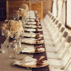 Fall wedding table decoration ideas image of country style wedding Fall Wedding Table Decor, Wedding Table Decorations, Fall Wedding Colors, Decoration Table, Autumn Wedding, Wedding Centerpieces, Fall Decor, Autumn Decorations, October Wedding