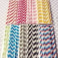 Retro striped straws are my fave!