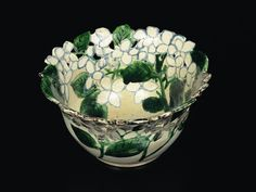 Bowl with openwork and hydrangeas design, 18th century, Ogata Kenzan | MIHO MUSEUM