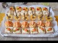 CANAPÉS Y APERITIVOS fáciles, ¡5 nuevas RECETAS! - YouTube Party Canapes, Snacks Für Party, Easy Snacks, Caldo Recipe, Party Sandwiches, Good Healthy Recipes, Summer Recipes, Finger Foods, Appetizer Recipes