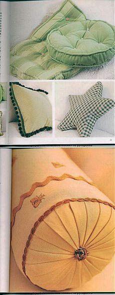 Подушки с выкройками...