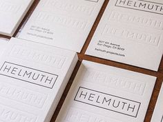 Business Cards for Helmuth Projects by Dylan Ousley