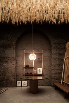 The SIX Gallery, curated by David Lopez Quincoces and Fanny Bauer Grung - founders of the Quincoces-Drago & Partners architectural practice - presented its first very own designed and produced collection, enhanced by a special exhibit of ears of co Interior Architecture, Interior And Exterior, Shutter Wall, Spot Light, Old Shutters, Inspiration Design, Milan Design, Ceiling Design, Stand Design