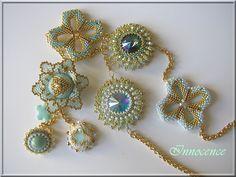 Cristal burst dans des tons lagon cette fois - Beads and Bijoux