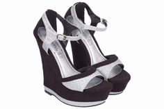 Features Glittery Peep-toe Sandals Ankle Strap Heel type Wedge Style Peep-toes Event Casual Summer Fashion Heel height 6 Inches Color Black Material