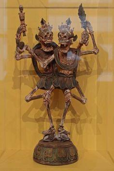 Chitipati sculpture from the Richard Harris collection Tibetan Art, Tibetan Buddhism, Buddhist Art, Shiva, Esoteric Art, Fantasy Miniatures, Skull Art, Concept Art, Character Design