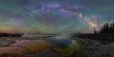 The Milky Way Over Yellowstone by Dave Lane