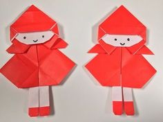 How to Doll Origami : Little Red Riding Hood Instruções Origami, Kids Origami, Origami Bird, Origami Animals, Red Riding Hood Party, Operation Christmas Child, Patterned Vinyl, Guys And Dolls, Steampunk Diy